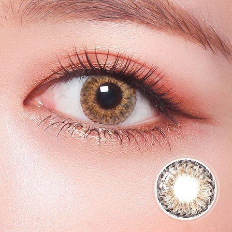 Revo Color Romantic Sheer Brown Colored Contact Lenses | Lamon Beauty