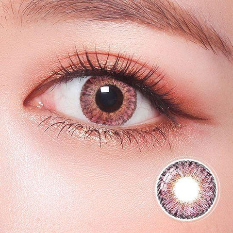 Revo Color Romantic Peach Pink Colored Contact Lenses | Lamon Beauty