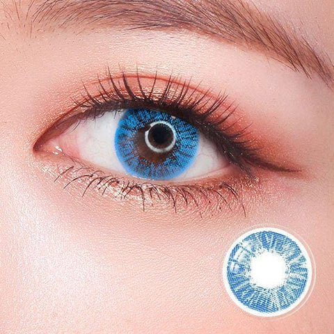 Revo Color Meteor Blue Colored Contact Lenses | Lamon Beauty