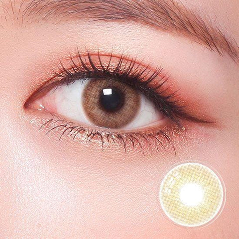 Signature Paris Brown Color Contact Lenses | Lamon Beauty