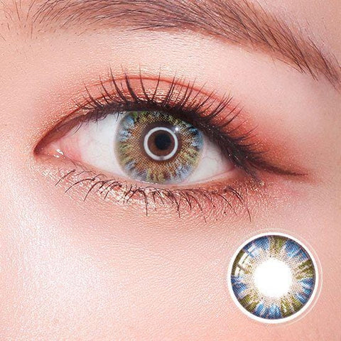 Rainbow Eyes Blue Colored Contact Lenses | Lamon Beauty