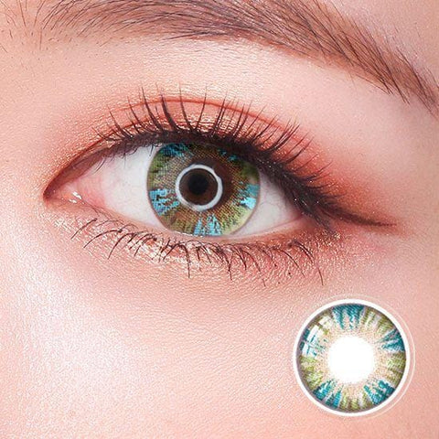 Rainbow Eyes Green Colored Contact Lenses | Lamon Beauty
