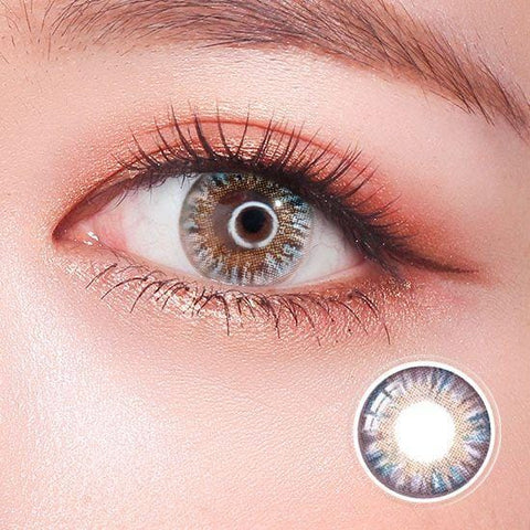 Rainbow Eyes Gray Colored Contact Lenses | Lamon Beauty