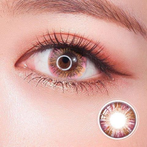 Rainbow Eyes Pink Colored Contact Lenses | Lamon Beauty