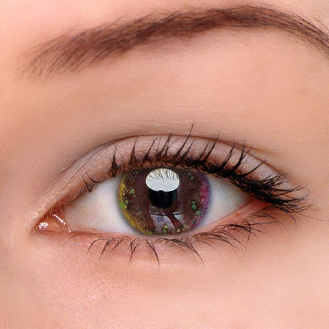 Fairy Yellow-Green Colored Contact Lenses | Lamon Beauty