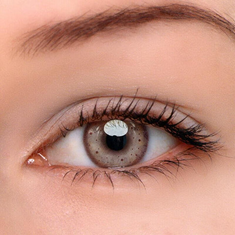 Honey Snow Grey Colored Contact Lenses | Lamon Beauty