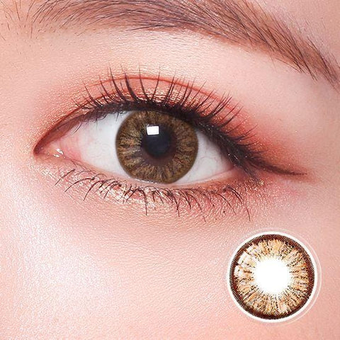 Standard Luminous Brown Color Contact Lenses | Lamon Beauty