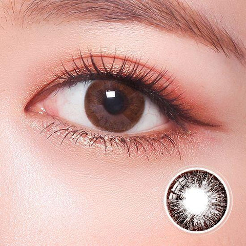 Standard Midnight Choco Color Contact Lenses | Lamon Beauty