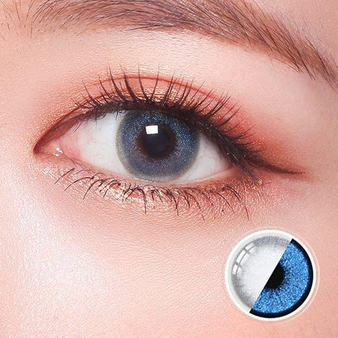 Glitz Star Blue  Color Contact Lenses | Lamon Beauty