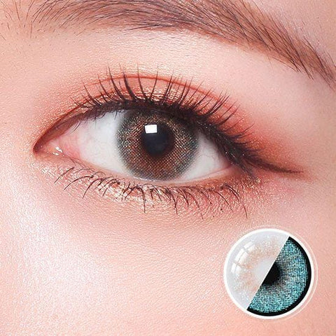Glitz Star Aqua Color Contact Lenses | Lamon Beauty