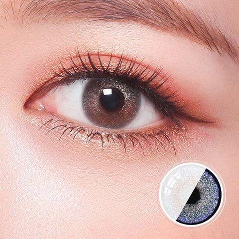 Glitz Star Silver Color Contact Lenses | Lamon Beauty