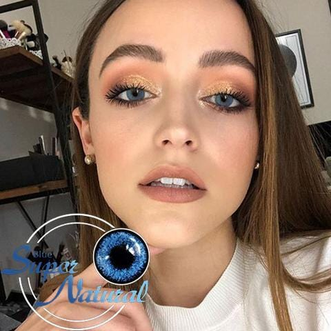 Super Natural Blue Colored Contact Lenses | Lamon Beauty