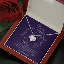 Load image into Gallery viewer, Mother's Day - Every Step - Love Knot Necklace Jewelry ShineOn Fulfillment Mahogany Style Luxury Box