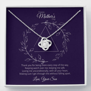 Mother's Day - Every Step - Love Knot Necklace Jewelry ShineOn Fulfillment Standard Box