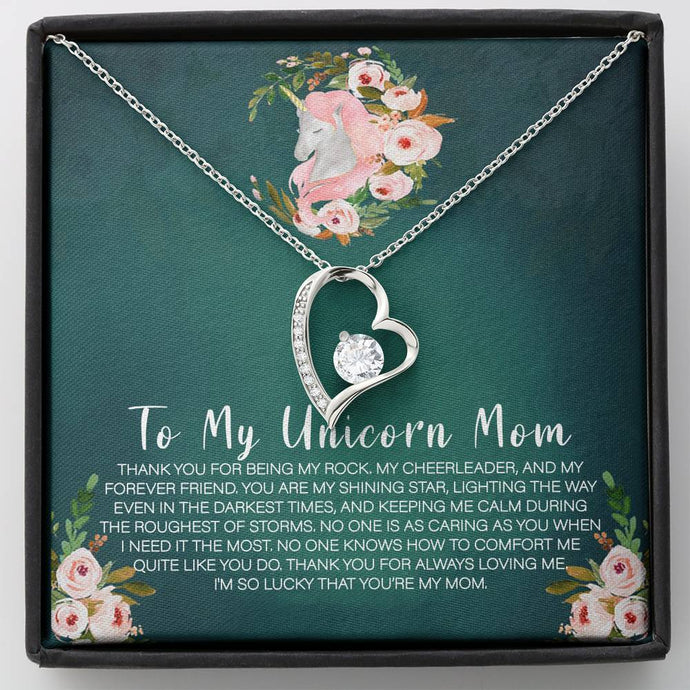 Unicorn Mom Forever Love Necklace Jewelry ShineOn Fulfillment Standard Box
