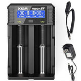 ROCKET SV2 LCD Fast Battery Charger ( AA / AAA / C / D / 18650 / 32650)