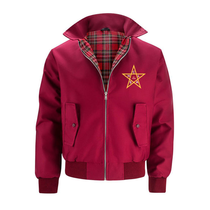 The Clash Harrington Jacket Burgundy