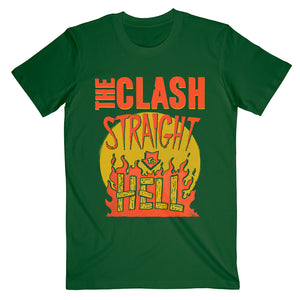 Straight To Hell Military Green T-Shirt