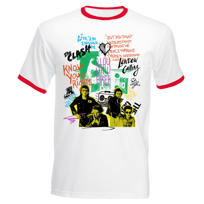 Singles Collage Ringer T-Shirt