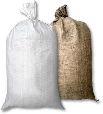 Sand bags for flooding