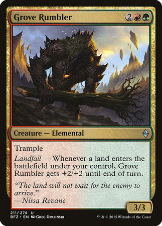 Grove Rumbler [Battle for Zendikar] | Nerd Geek U