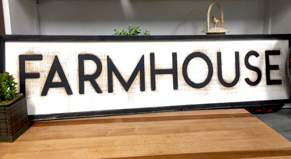 Farmhouse Sign - Country Cottage Gifts