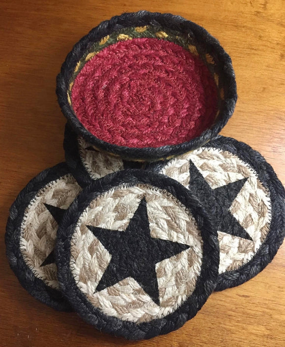 Braided Coasters (Black Star)