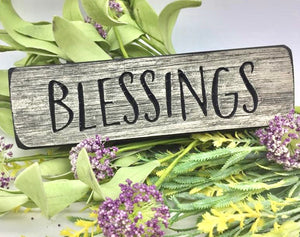 "Wooden ""Blessings"" magnet - Country Cottage Gifts"