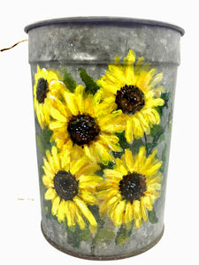 Sunflower VT Sap Bucket - Country Cottage Gifts