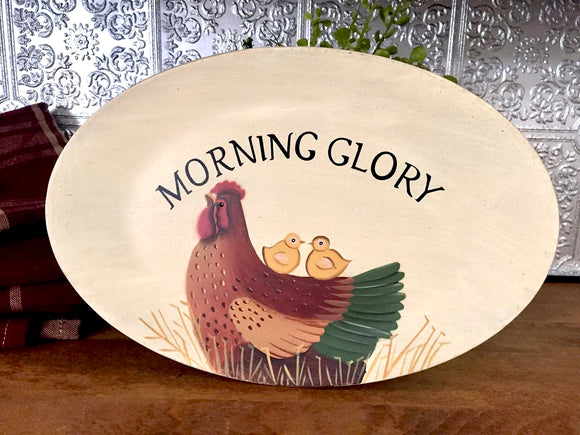 Morning Glory Tray - Country Cottage Gifts