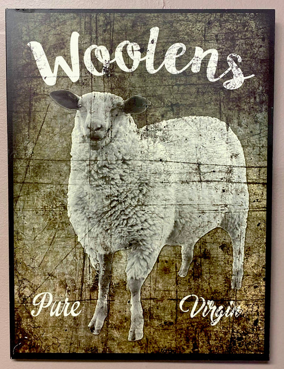 Woolens Sign