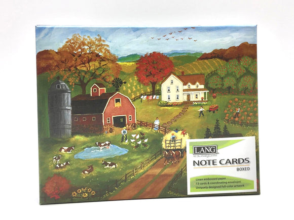 Lang Autumn Farm Notecards - Country Cottage Gifts