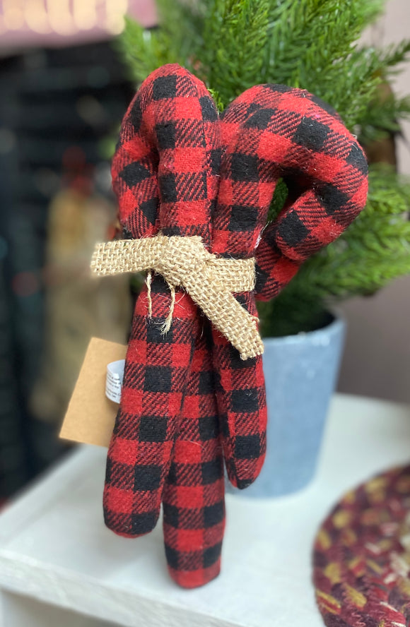 Buffalo Plaid Candy Canes