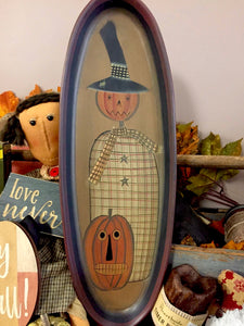 Decorative Scarecrow Tray
