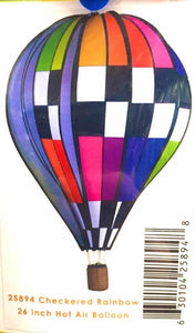 "26"" Checkered Hot Air Balloon - Country Cottage Gifts"