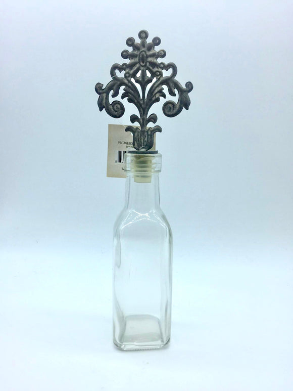 Glass Bottle with Topper - Country Cottage Gifts