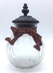 Small Gingham Jar