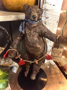 Paper Mache Dancing Bear - Country Cottage Gifts
