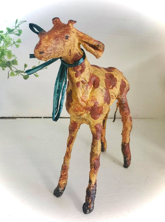 Spun Cotton/ Clay Giraffe - Country Cottage Gifts