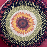 Sunflower Braided Jute Rug - Country Cottage Gifts