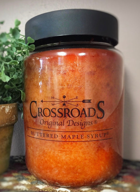 Buttered Maple Syrup~Crossroads Candle - Country Cottage Gifts