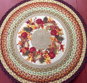 Autumn Harvest Braided Rug - Country Cottage Gifts