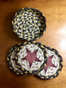 Braided Coasters (Red Star)