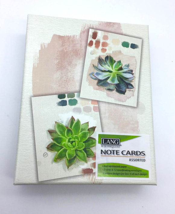 Lang Succulents Notecards - Country Cottage Gifts