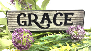 "Wooden ""Grace"" Magnet - Country Cottage Gifts"