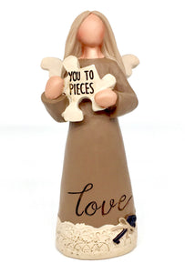 Love You To Pieces Figurine - Country Cottage Gifts