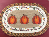 3 Pumpkins Rug - Country Cottage Gifts