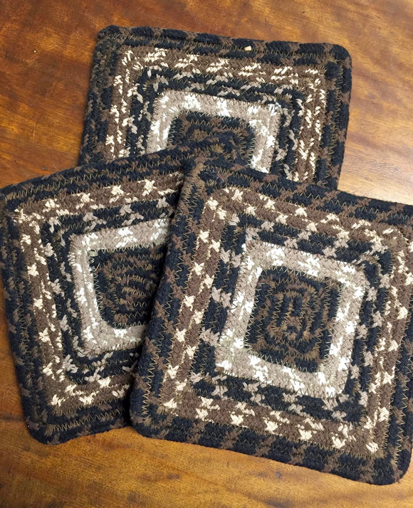 """Mocha"" Braided Coaster - Country Cottage Gifts"