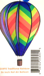 "26"" Traditional Rainbow Hot Air Balloon - Country Cottage Gifts"
