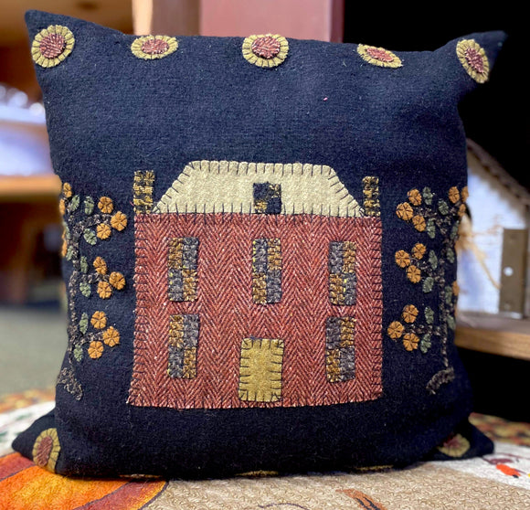 Cottage Appliqué Pillow
